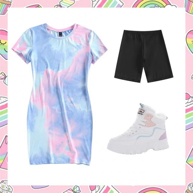 simple tiedie Outfit for Summer days