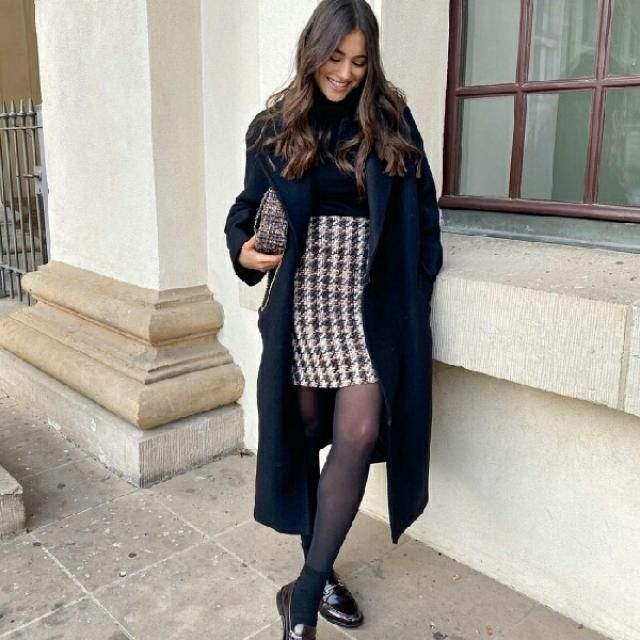 so classy and chic tweed skirt