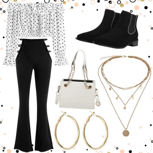 A chic look that's bold but cute