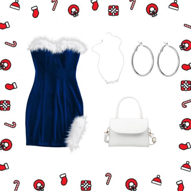 Christmas in blue and white