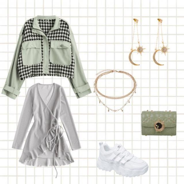 🐢super cute green look