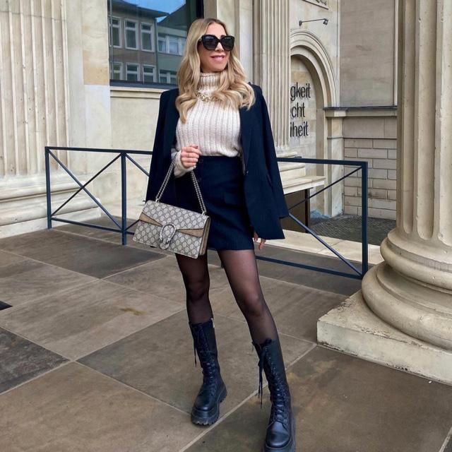 Walking in a winter with fashion and style