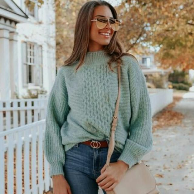 I am in love with this cute green sweater