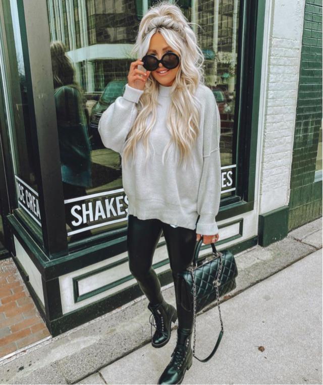 Yes leather leggings is still trendy in 2021