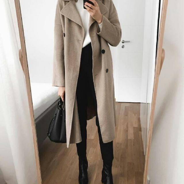long trench coat is a must have