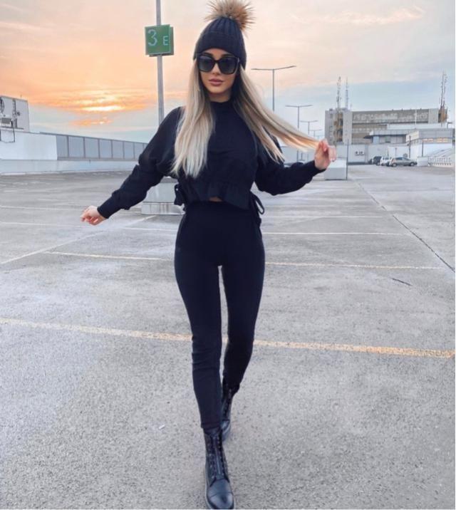 Wearing all black is classy in 2021
