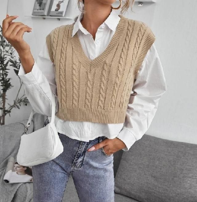 Sweater vest is a must have wardrobe staple this season!