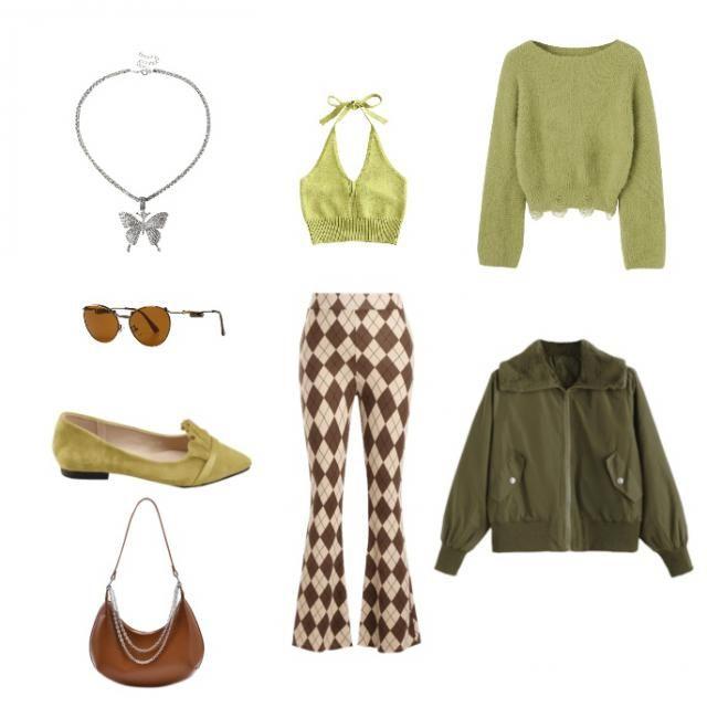 green & brown colour pair
