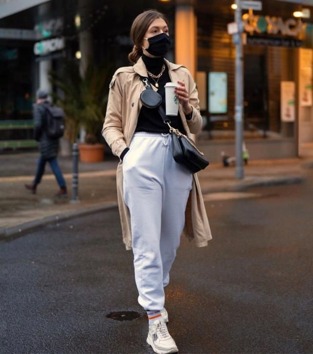 This is how 2021 street style looks like, remember to always wear face mask
