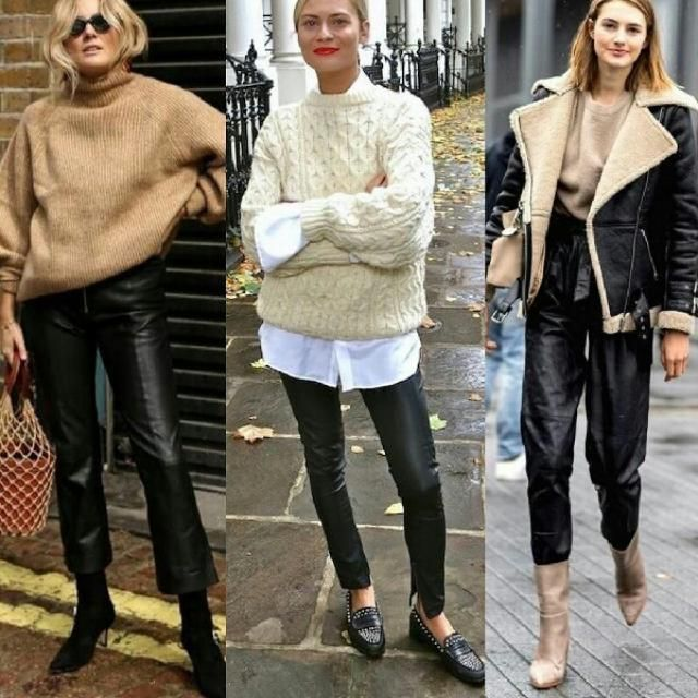 3 casual and chic ways to style your faux leather pants