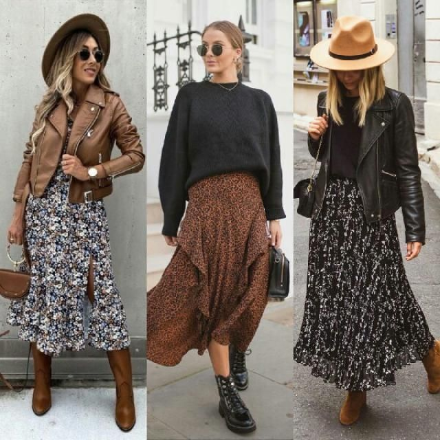 for effortlessly chic outfit try a long skirt