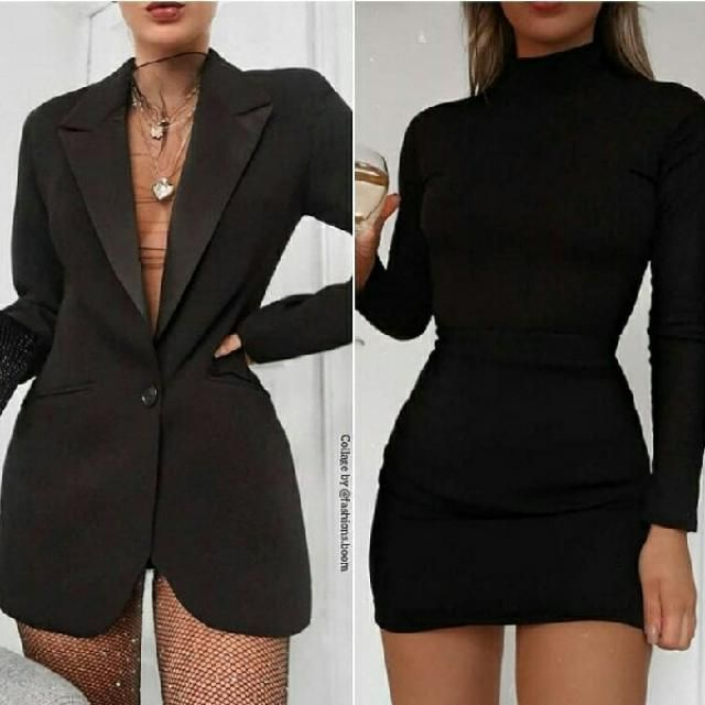 which is better long blazer as a dress or black simple dress