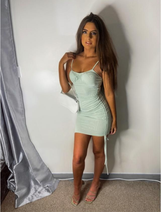 Zaful mint green bodycon dress