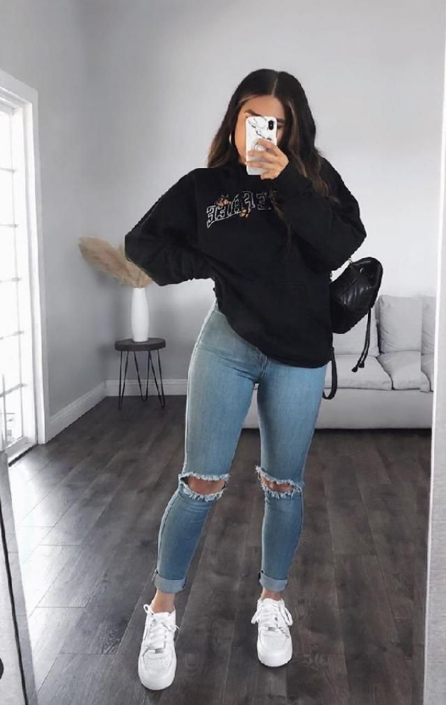 hoodie & jeans