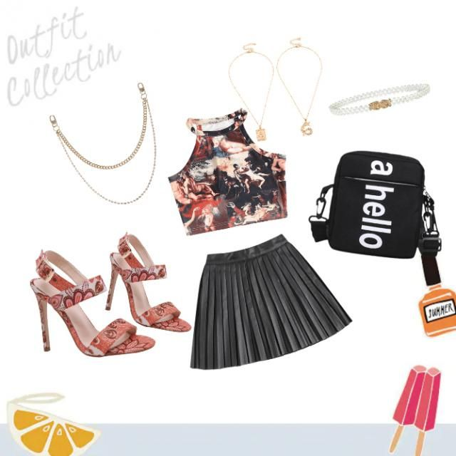going out for some fun, don&;t stress. with a nice relaxed crop top comes with a black skirt to match with it come with…