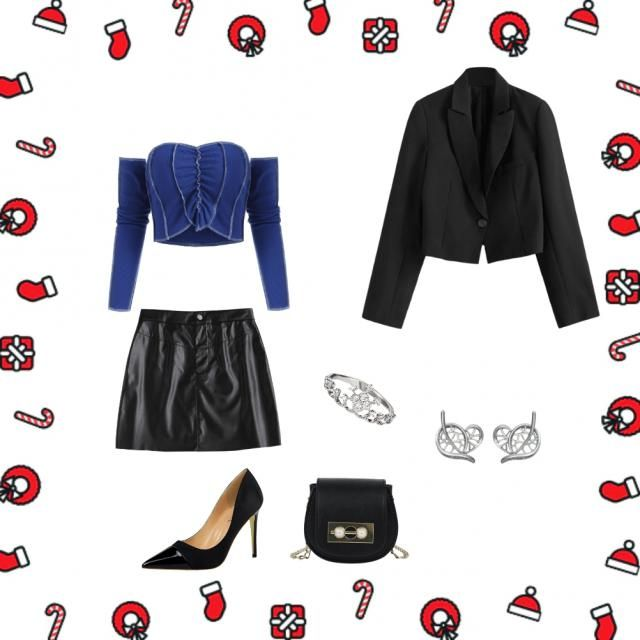 An outfit perfect for clubbing the night of the year's change