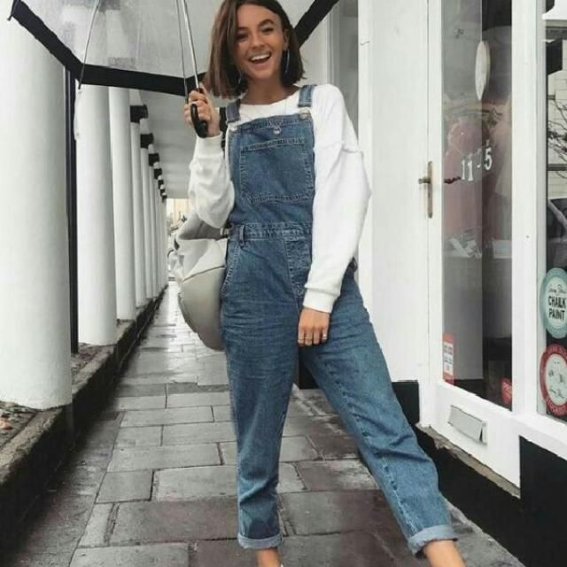what a cute denim overall