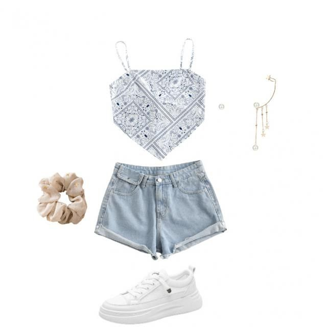 Cute summer outfit dressed up a little!