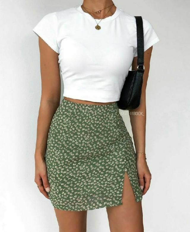 front slit mini skirt