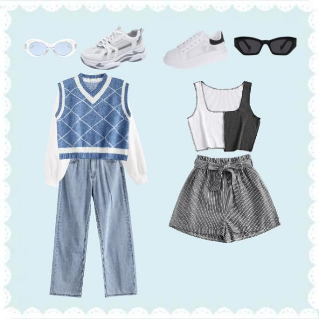 Do you like the blue one or the black one? Sorry if this outfits are not good, it's my first time ❤️❤️