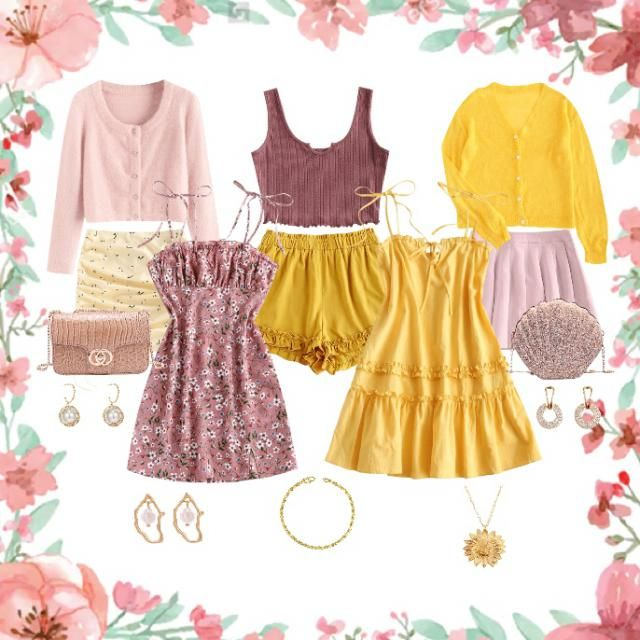 Pink and yellow inspo 🌸💐🌼