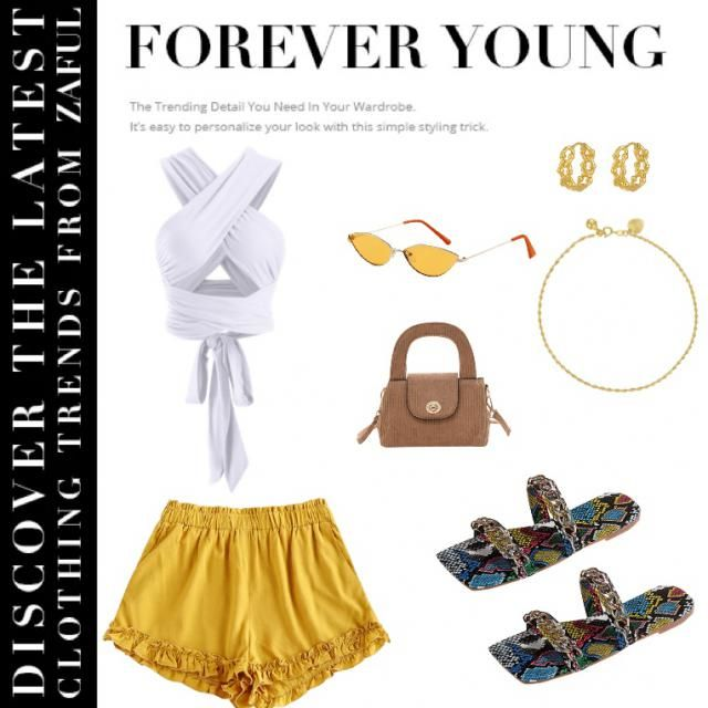 This outfit is meant to have a fun and colorful vibe. You can wear this out to a party, to the mall, a day out with you…