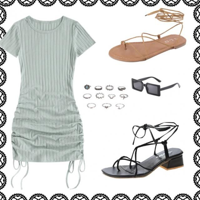 Casual going to the mall or shopping day outfit  You can also wear it as a going out, outfit two different pairs of sho…