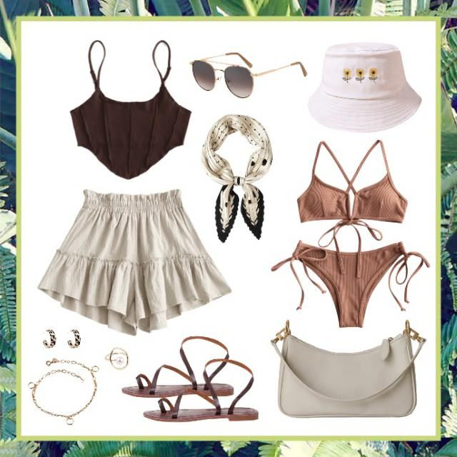 Summer outfit: Monochromatic, stylish, and comfortable. Perfect for the warm weather and a trip to the beach!