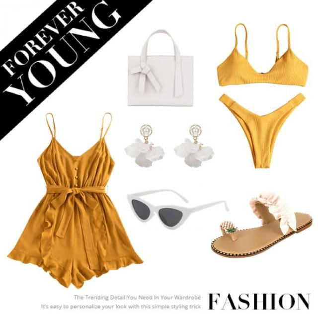 Inspired by sunny days by the pool ☀️