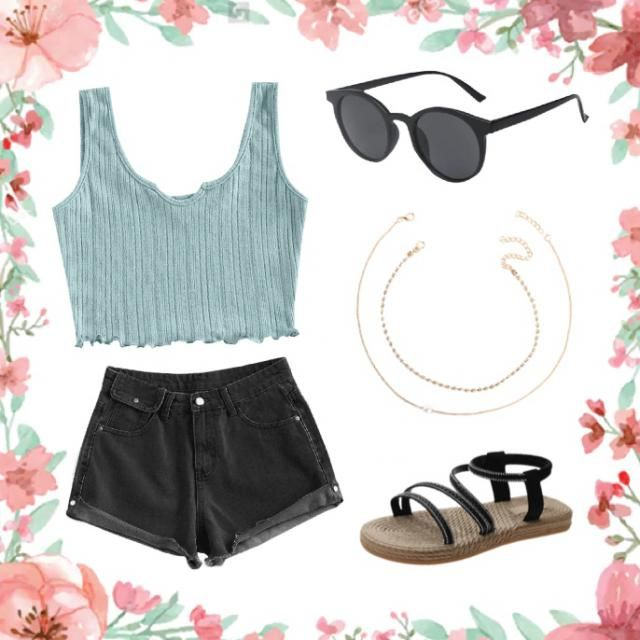 good summer outfit. causal yet attracting.