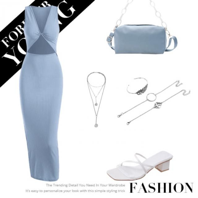 A cute dress with a nice bag and shoes with some cute jewelleries for my beach party.