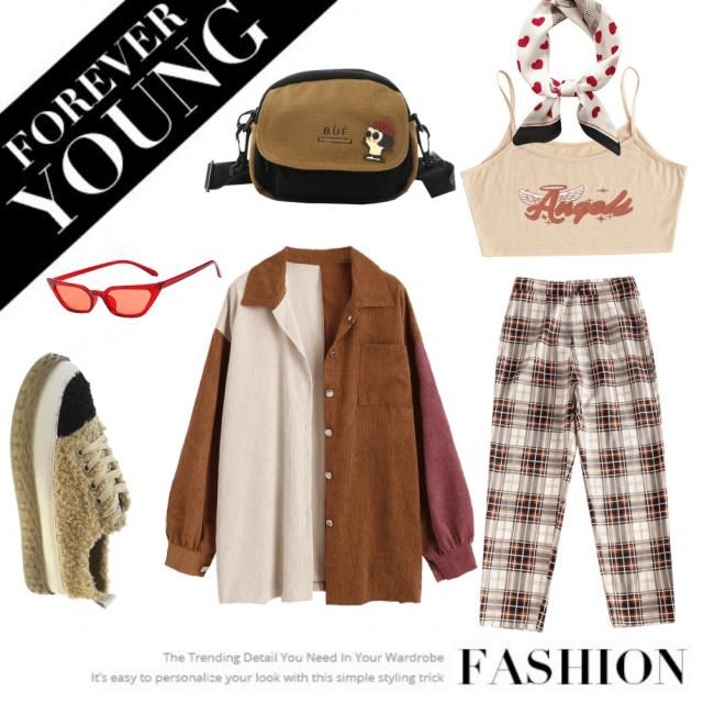 Fall inspo, gingham, neutrals, trendy casual