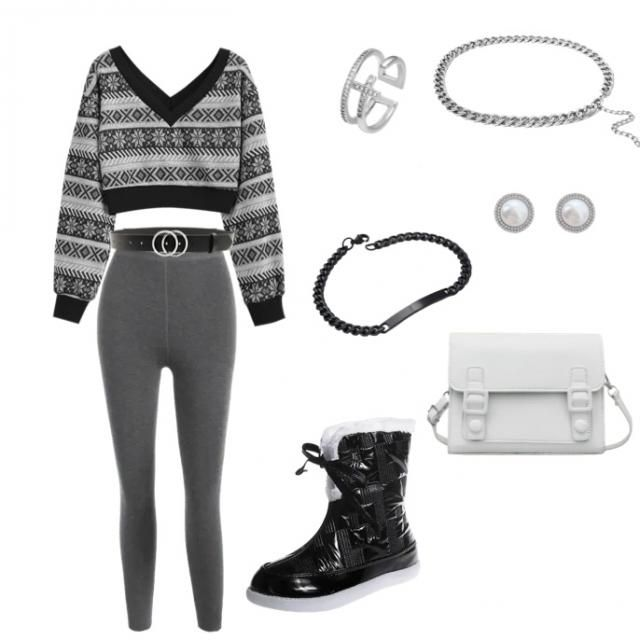 Monochrome holiday fit :)