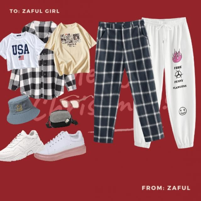 a sweatpant is very stunning with a baggy t-shirt and a long sleeved shirt. a flat white tekkie , a bucket hat , sun-gl…