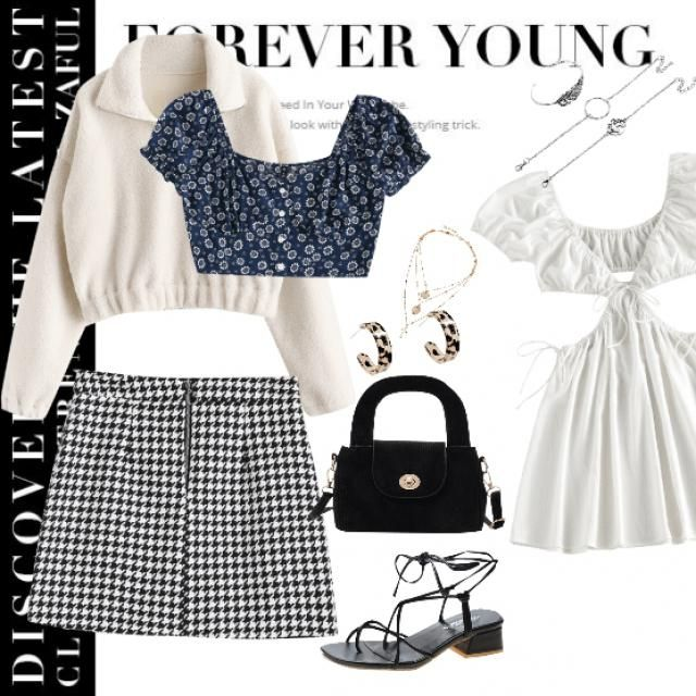 It&;s a little windy spring day ,warm and sweet that you need a skirt ,flip it together with a tank top and a little wa…