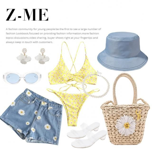 Since summer is up, here is a little comfy beach day outfit.                   #